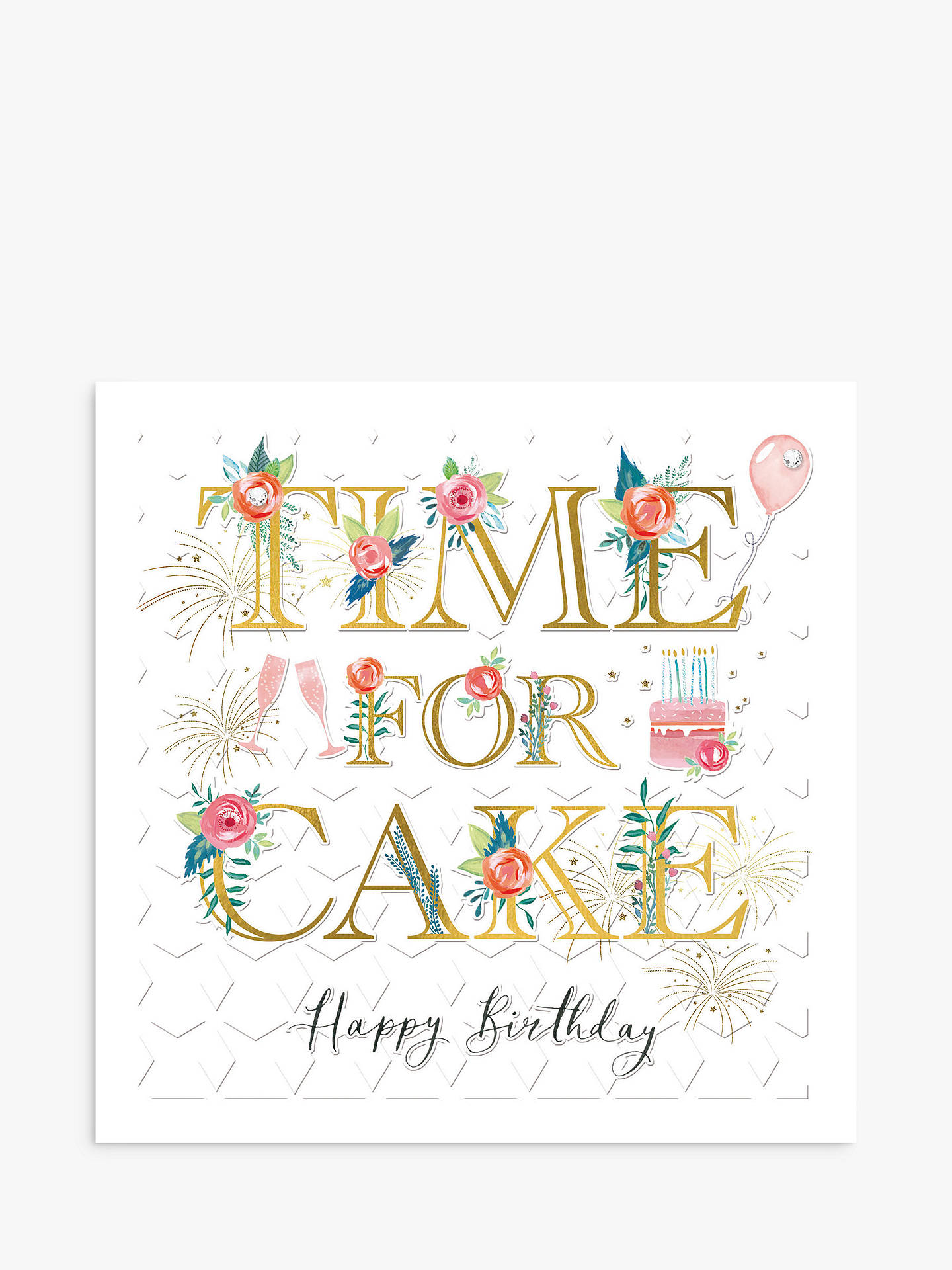 Woodmansterne Time For Cake Birthday Card At John Lewis Partners