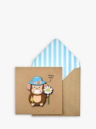 Tache Crafts 3D Monkey Thank You Card
