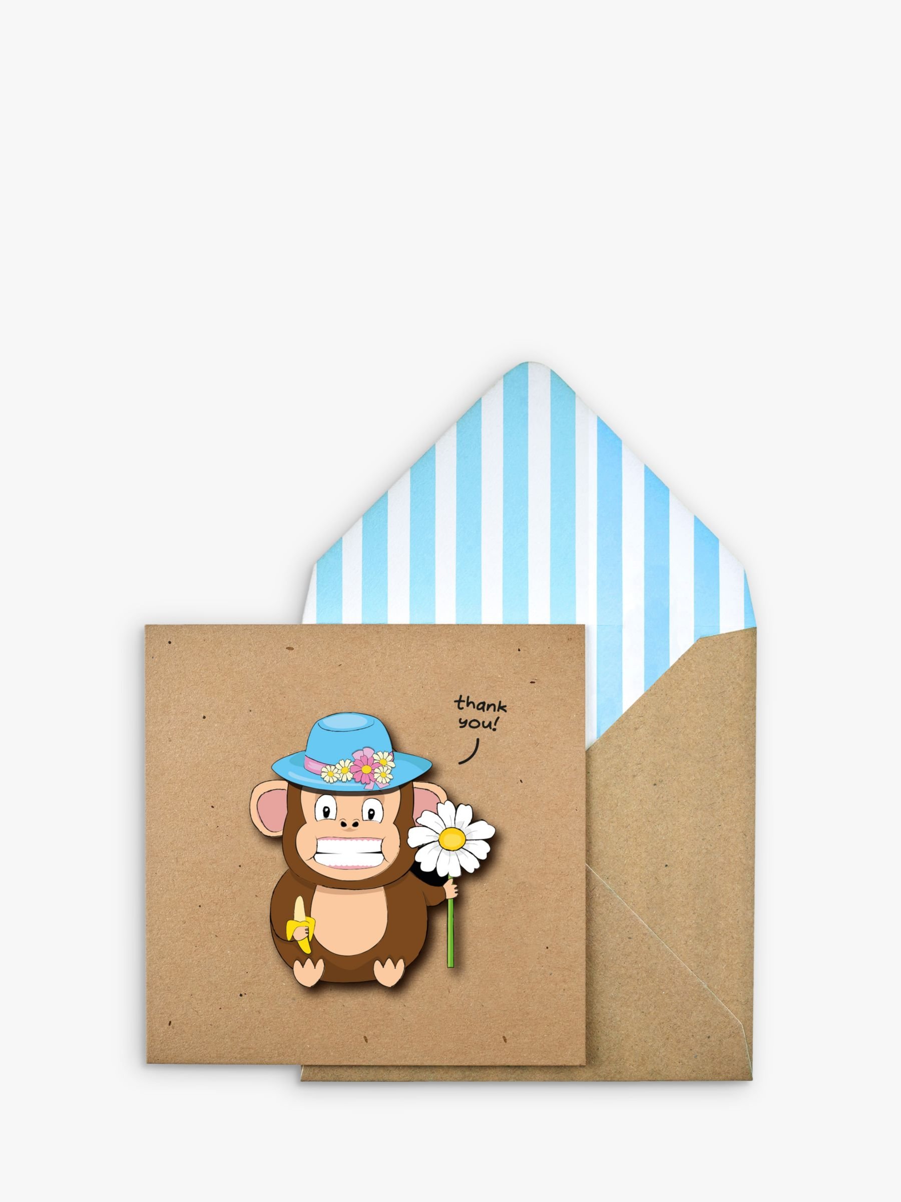 Tache Crafts Tache Crafts 3D Monkey Thank You Card