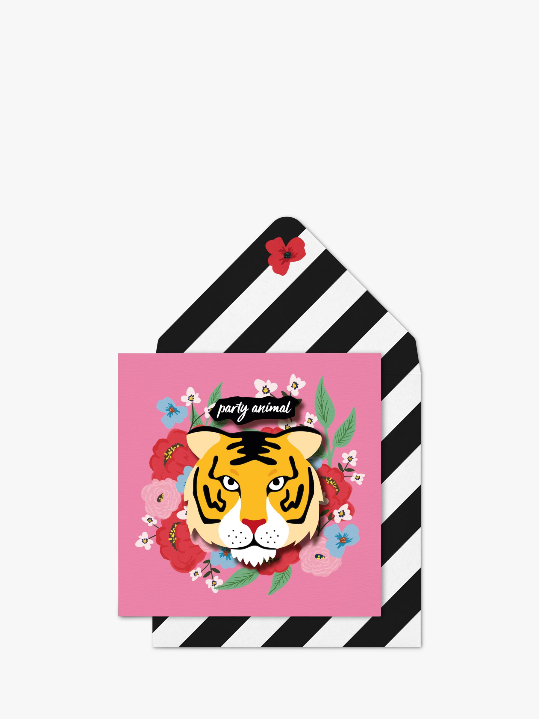 Tache Crafts Tache Crafts 3D Tiger Party Animal Birthday Card