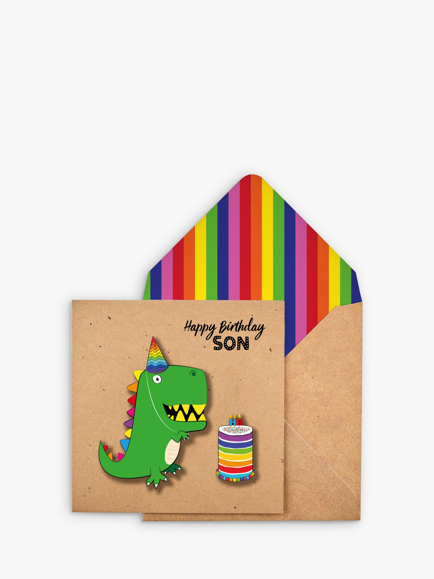 Tache Crafts Tache Crafts 3D Dinosaur Son Birthday Card