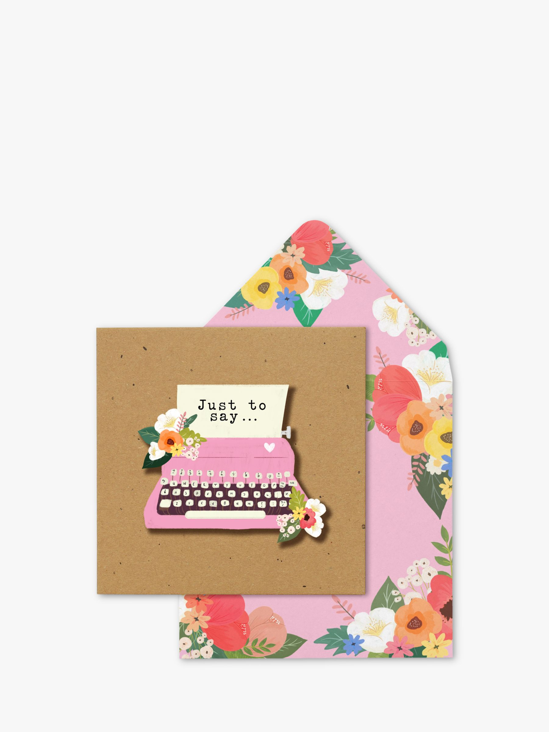 Tache Crafts Tache Crafts 3D Typewriter Just To Say Blank Greeting Card