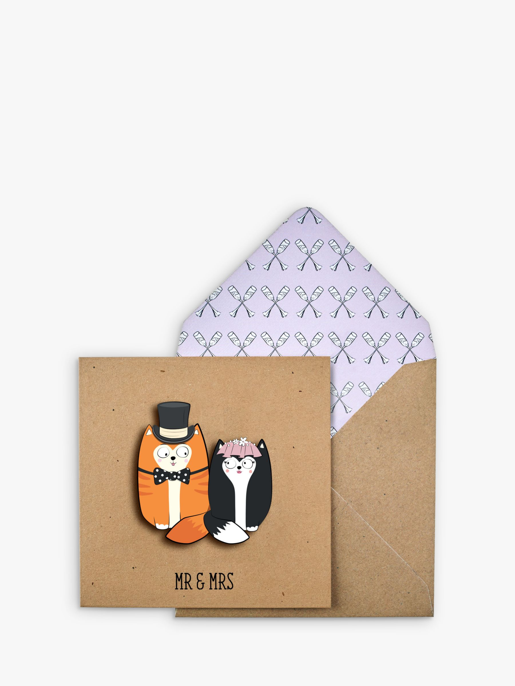 Tache Crafts Tache Crafts 3D Cat Couple Wedding Card