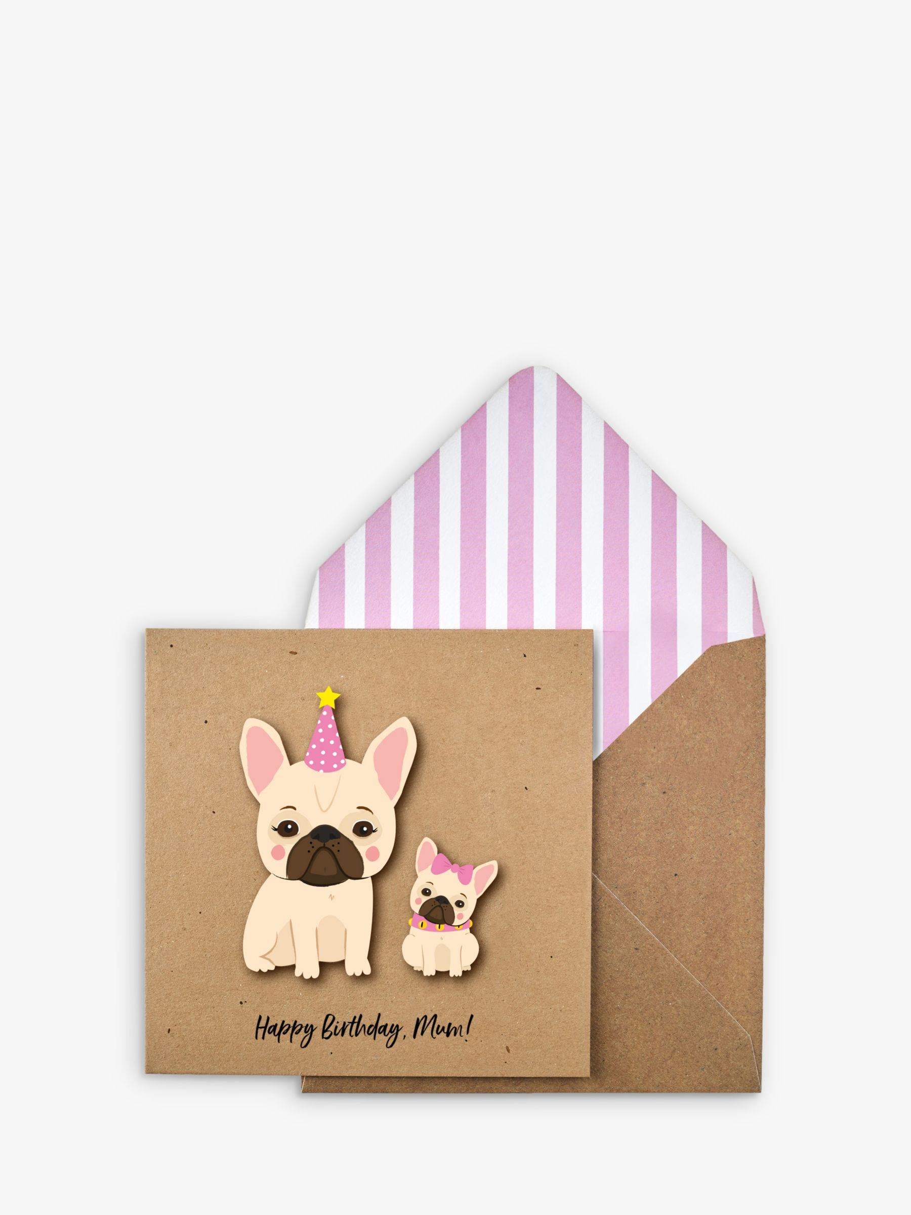 Tache Crafts Tache Crafts 3D Dogs Mum Birthday Card
