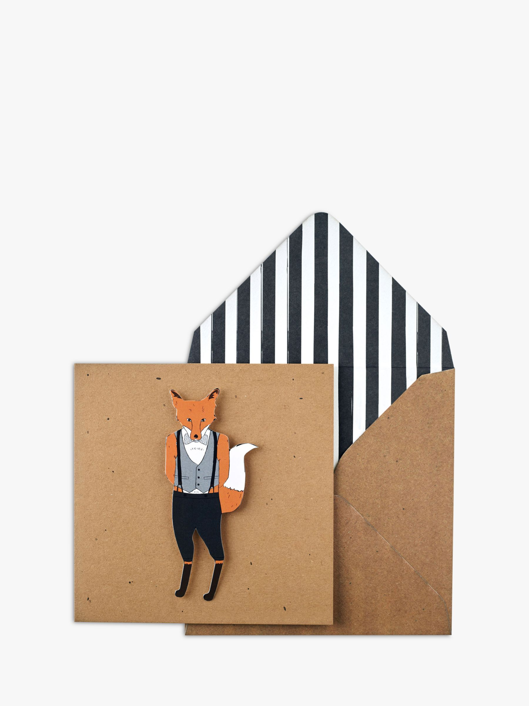Tache Crafts Tache Crafts 3D Fox Bank Greeting Card