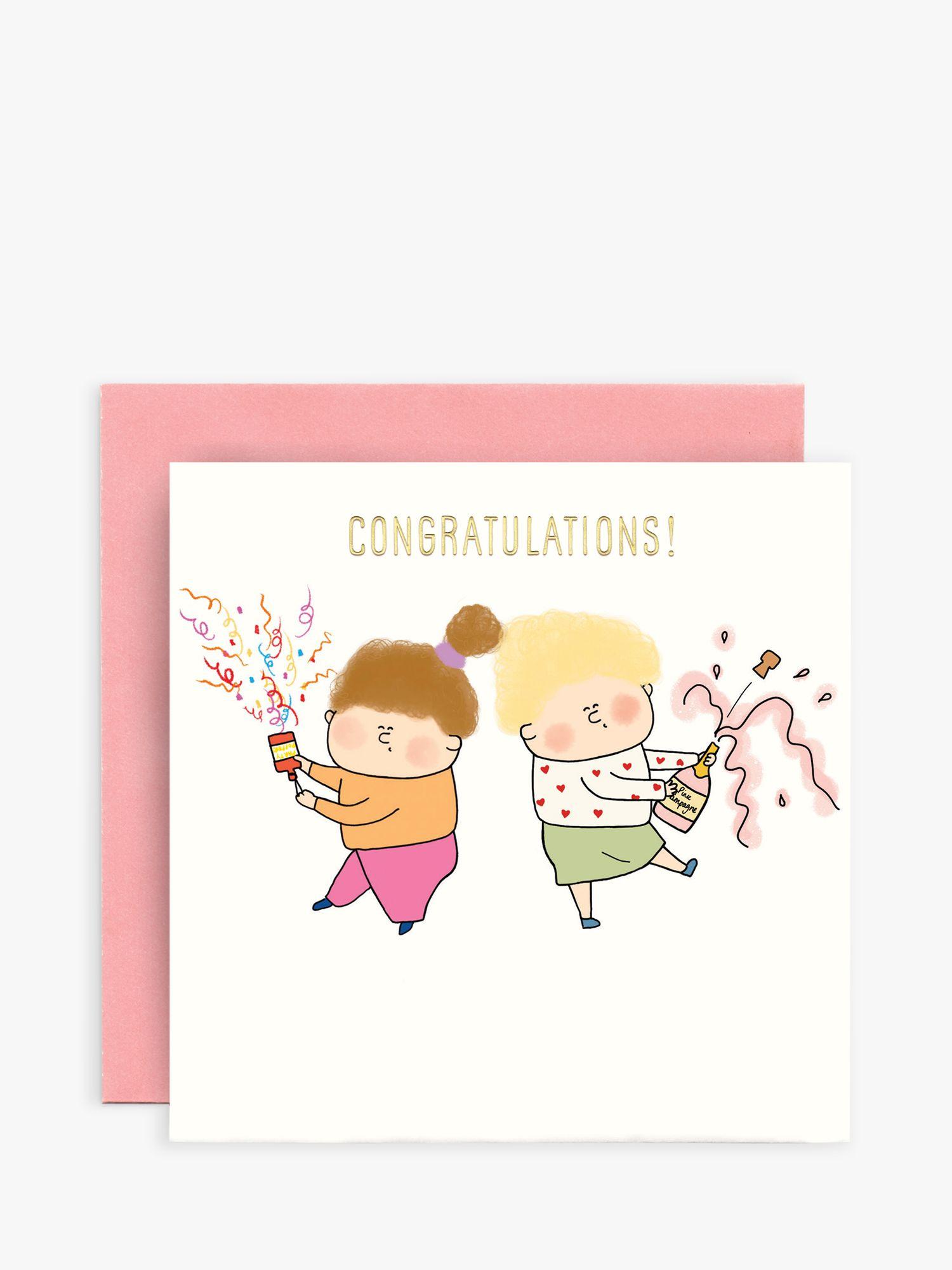 Susan O'Hanlon Susan O'Hanlon Party Poppers Congratulations Card