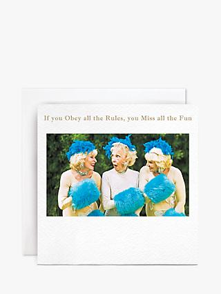 Susan O'Hanlon Obey All The Rules Birthday Card