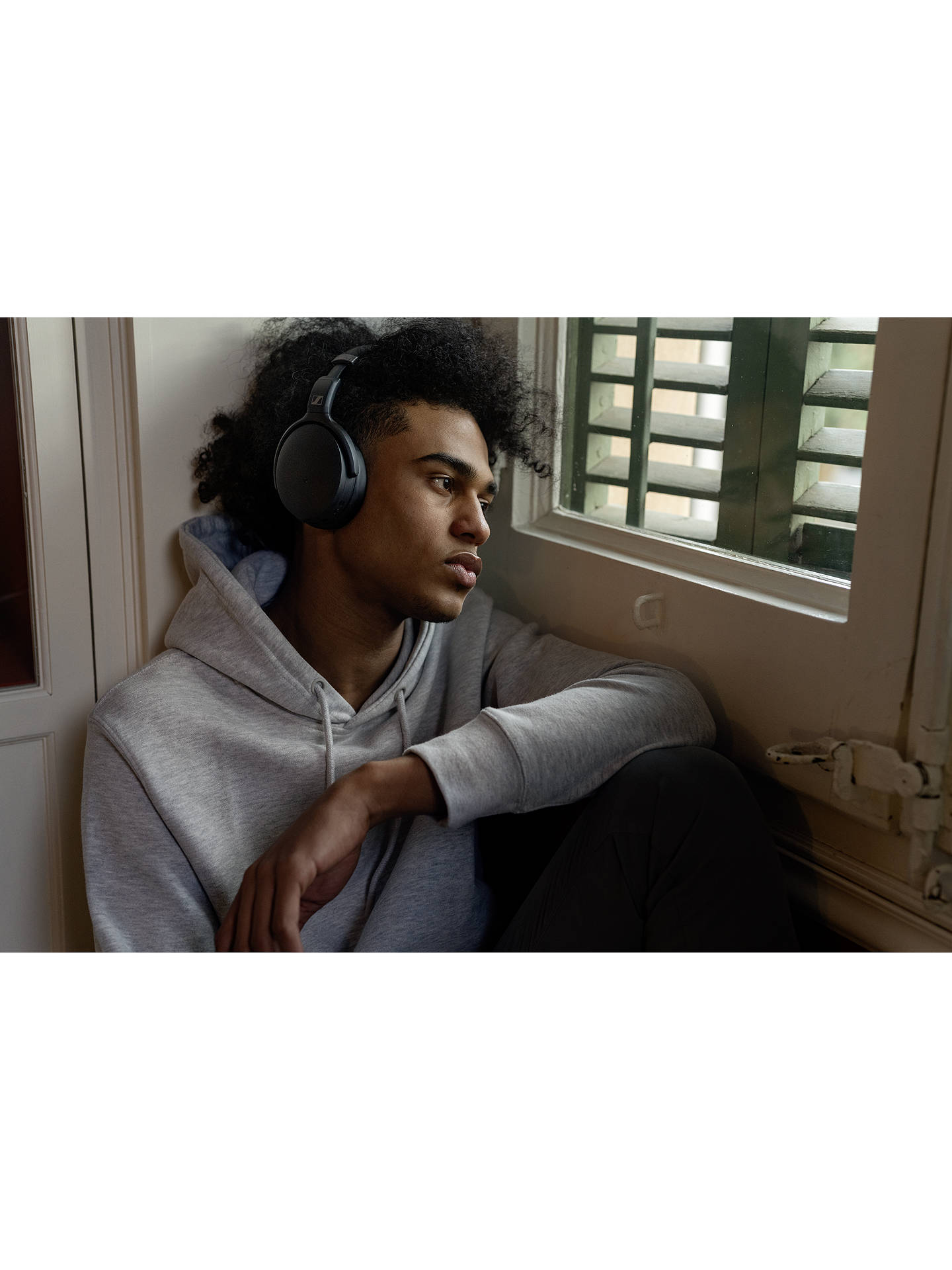Buy Sennheiser HD 450BT Noise Cancelling Bluetooth Over-Ear Headphones with Mic/Remote, Black Online at johnlewis.com