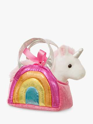 Aurora World Fancy Pals Rainbow Unicorn Soft Toy
