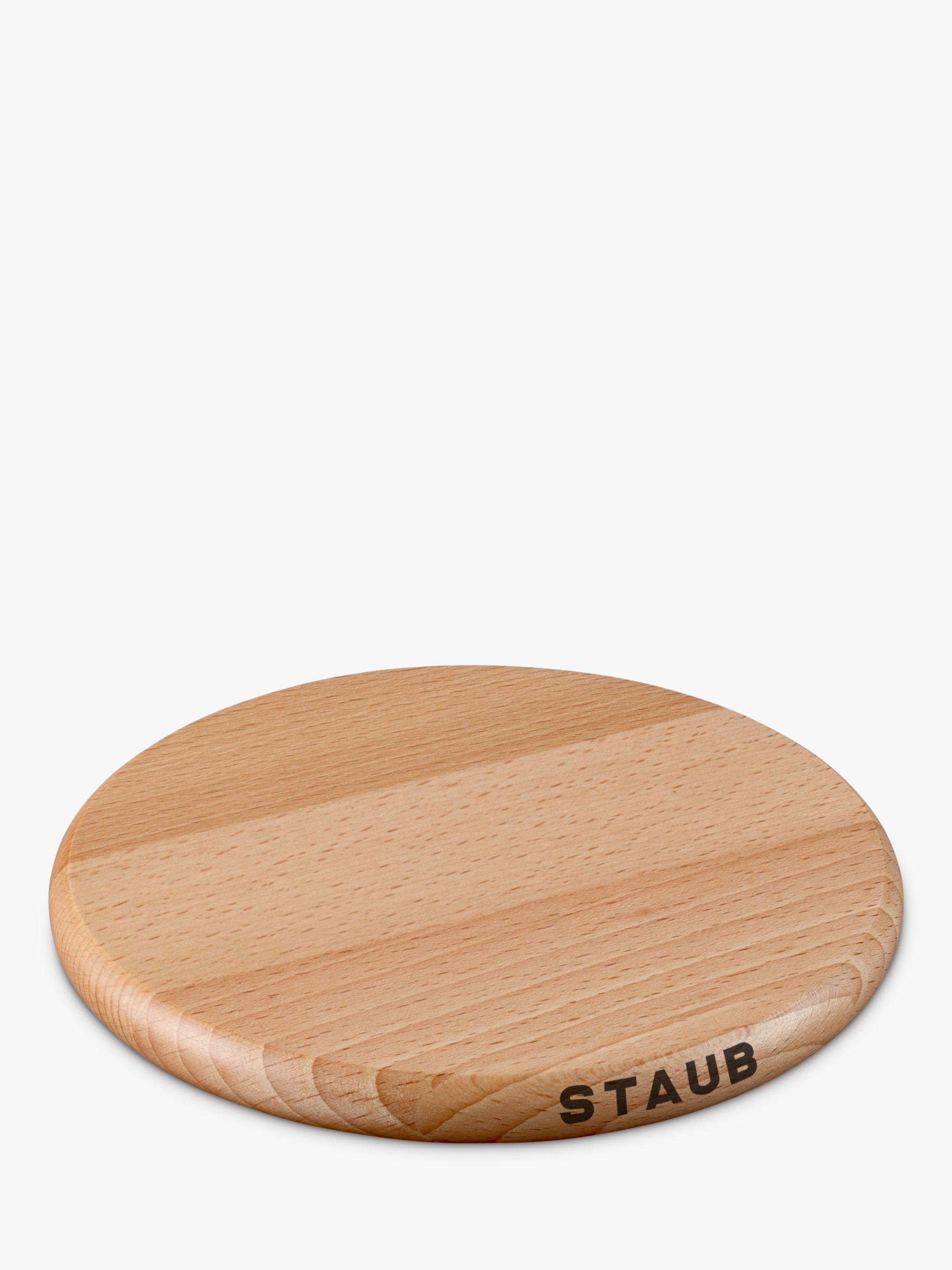 Staub Round Magnetic Wooden Trivet Natural At John Lewis Partners
