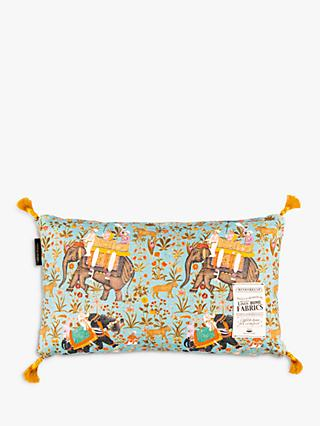 MINDTHEGAP Hindustan Rectangular Cushion, Multi