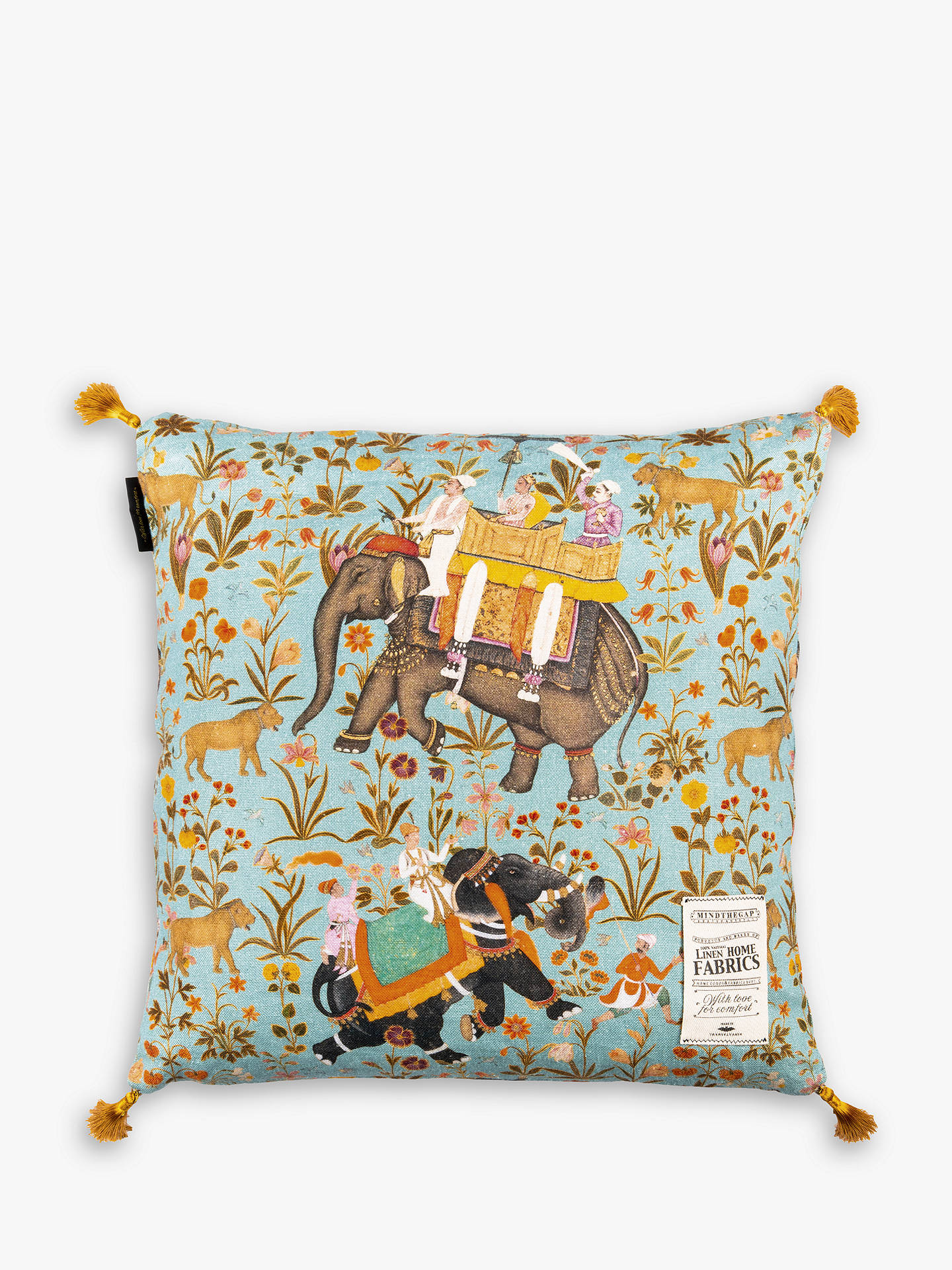Buy MINDTHEGAP Hindustan Cushion, Multi Online at johnlewis.com