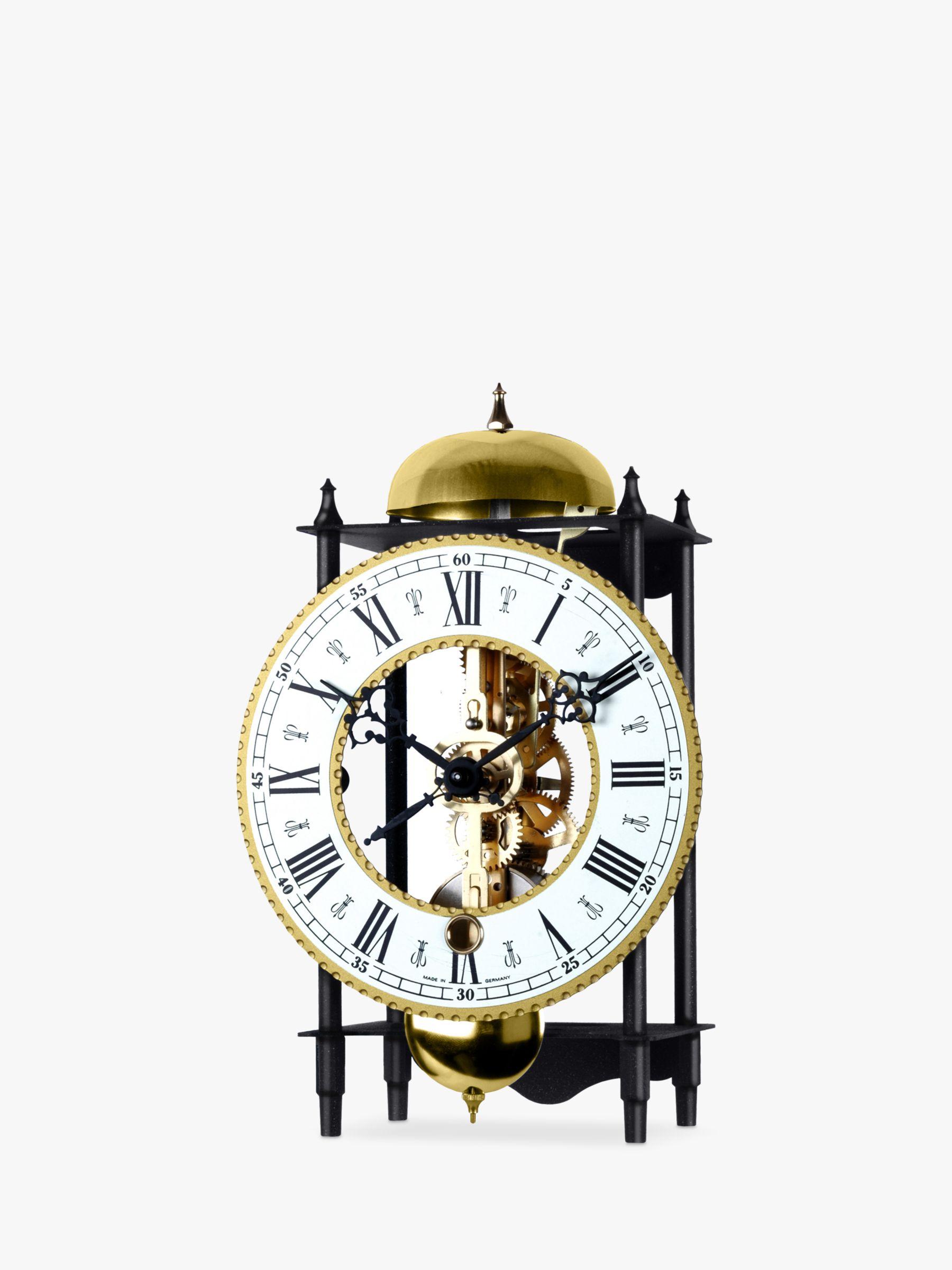 Acctim Alcester Mechanical Table Clock, 22cm, Black/Brass