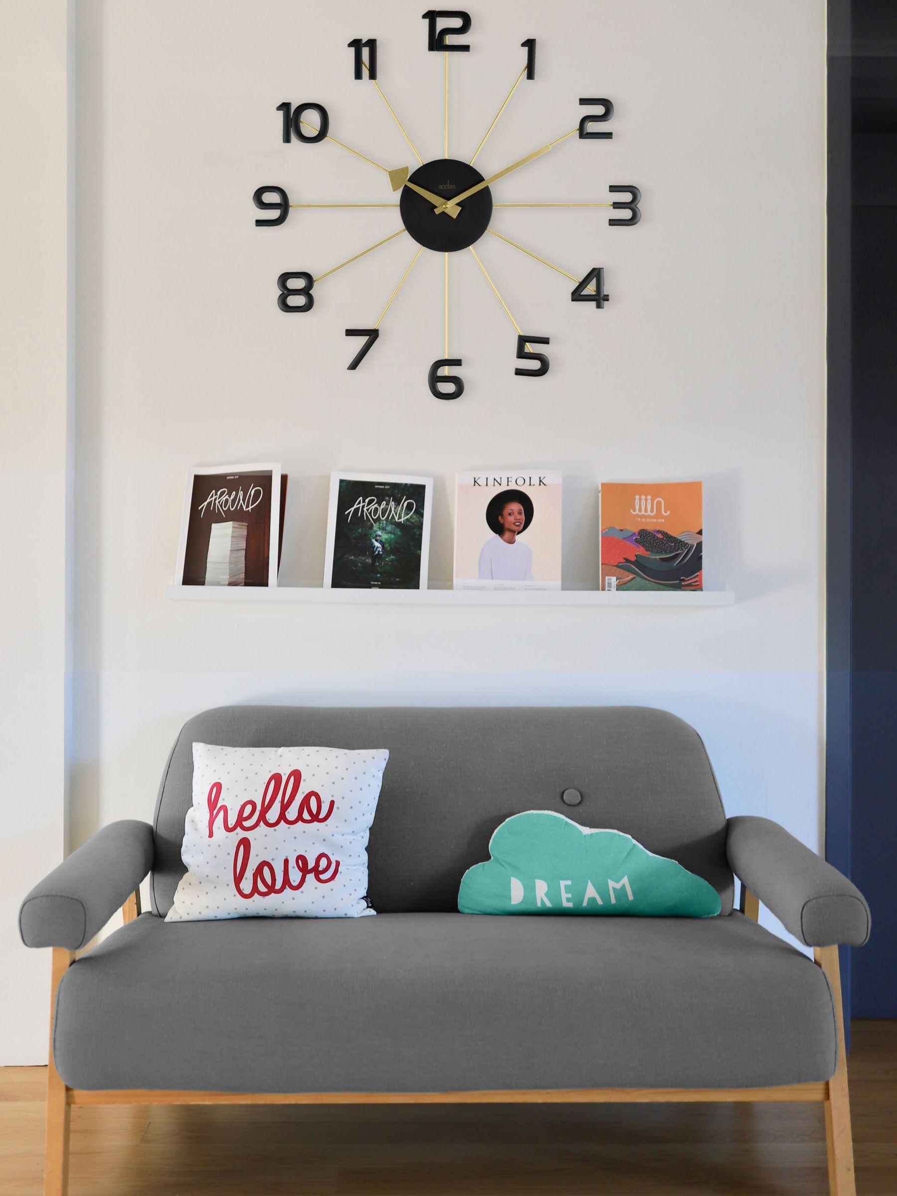 Acctim Acctim Astraea Quartz Wall Clock, 49cm, Gold/Brass