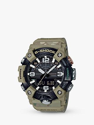 Casio GG-B100BA-1AER Men's G-Shock British Army Limited Edition Mudmaster Bluetooth Day Resin Strap Watch, Beige/Black