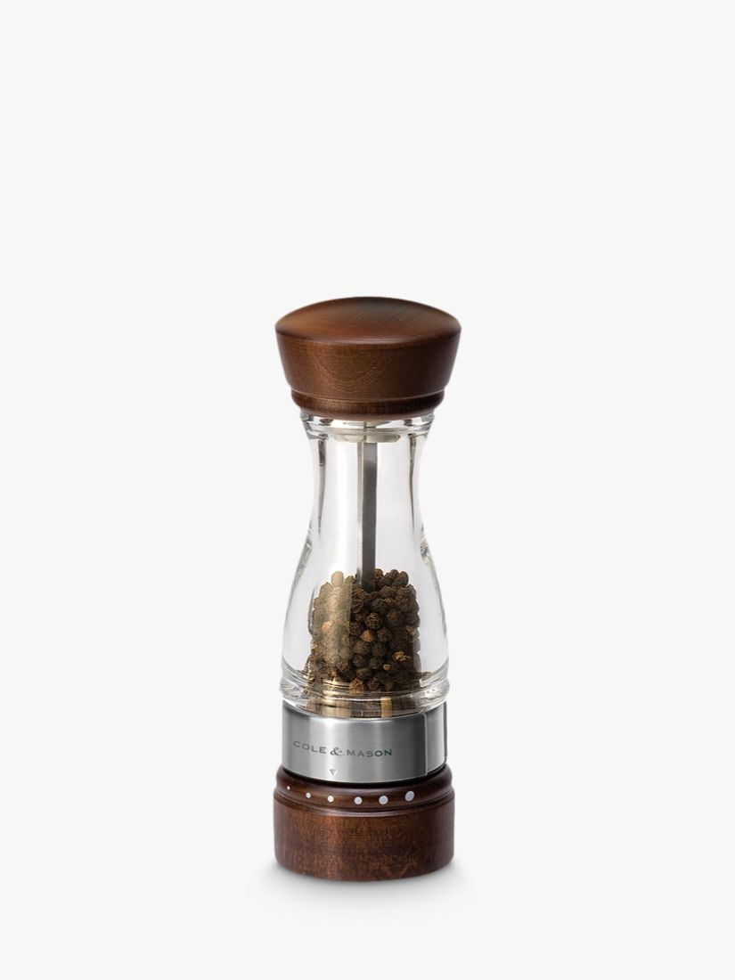 Cole & Mason Cole & Mason Keswick Wood Pepper Mill, H18cm, Natural/Clear