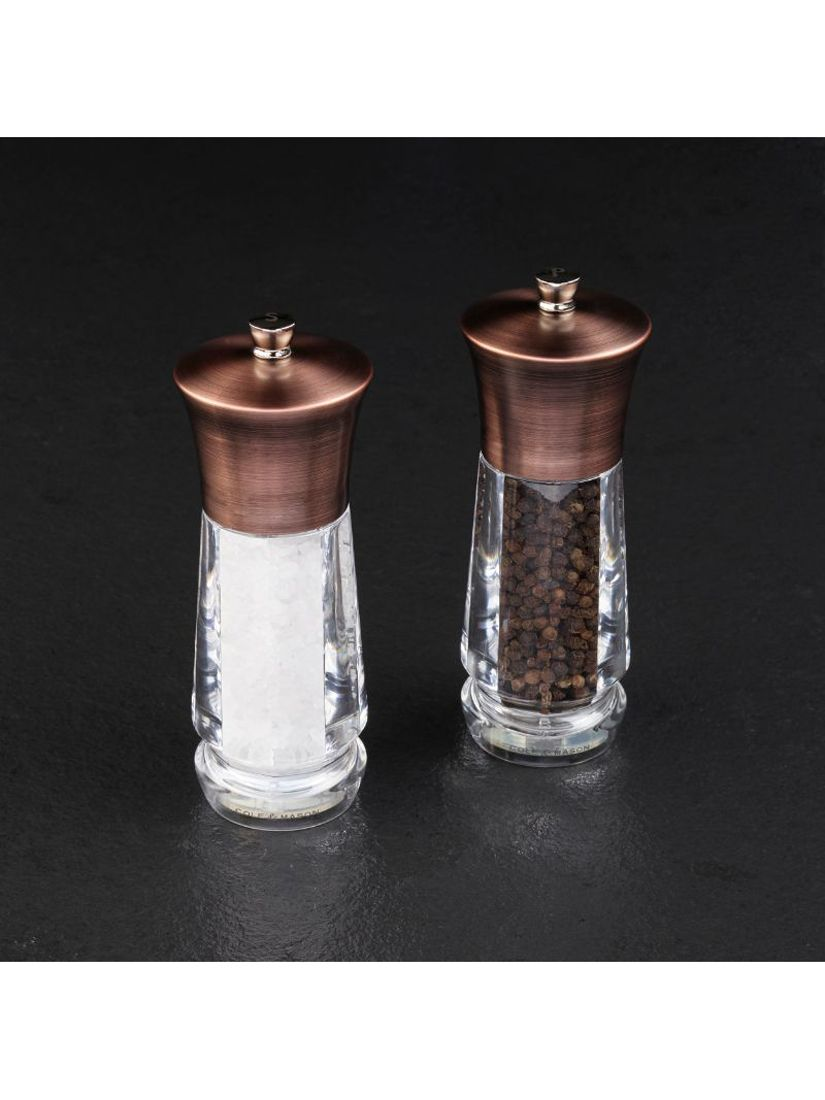 Cole Mason Exford Brass Salt Pepper Mill Set At John Lewis Partners