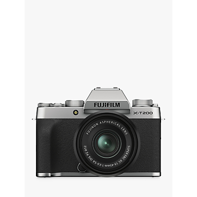 Fujifilm X-T200 Compact System Camera with 15-45mm XC Lens, 4K Ultra HD, 24.2MP, Wi-Fi, Bluetooth, EVF, 3.5� Vari-angle Touch Screen