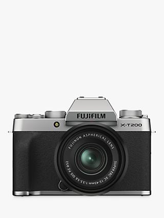"Fujifilm X-T200 Compact System Camera with 15-45mm XC Lens, 4K Ultra HD, 24.2MP, Wi-Fi, Bluetooth, EVF, 3.5"" Vari-angle Touch Screen"