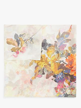 Modern Rarity Pastel Floral Square Silk Scarf, Multi