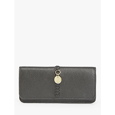 see by chloé tilda whipstitch large leather purse, black