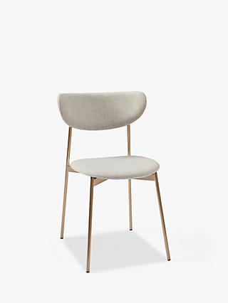 west elm Modern Petal Upholstered Dining Chair, Natural