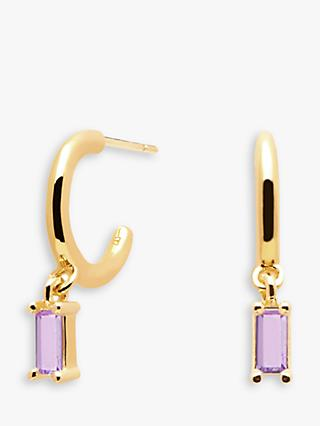 PDPAOLA Alia Cubic Zirconia Drop Hoop Earrings