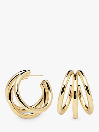 PDPAOLA True Triple Hoop Earrings, Gold