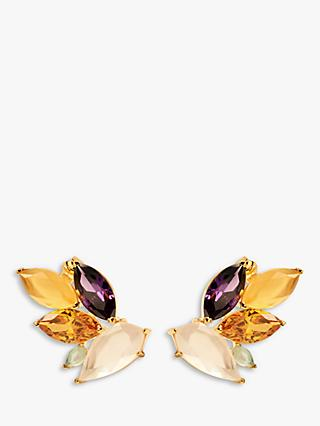 PDPAOLA Citric Crystal Stud Earrings, Multi