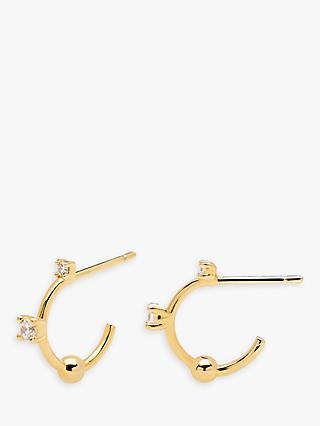PDPAOLA Kaya Cubic Zirconia Small Hoop Earrings, Gold
