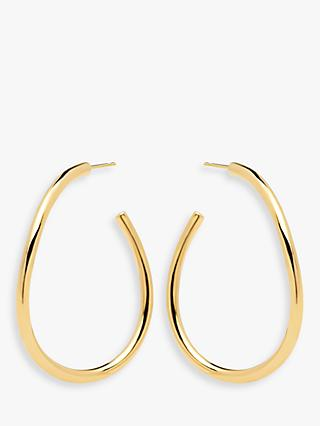 PDPAOLA Yoko Oval Hoop Earrings, Gold