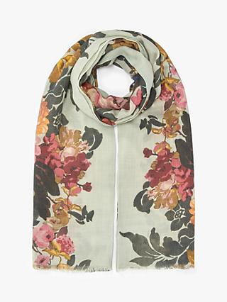 Modern Rarity Shadow Bloom Wool and Silk Scarf, Multi