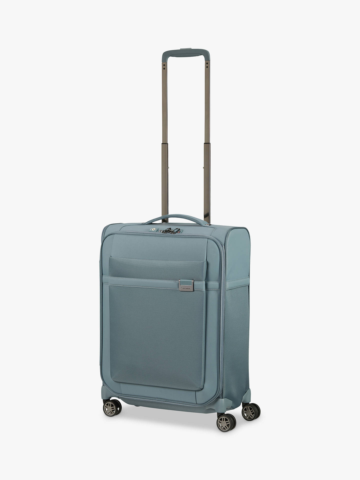 Buy Samsonite Airea 4-Wheel 55cm Expandable Cabin Case, Smoke Blue Online at johnlewis.com
