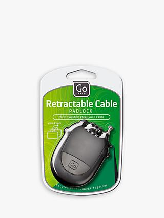 Go Travel Retractable Cable Luggage Padlock