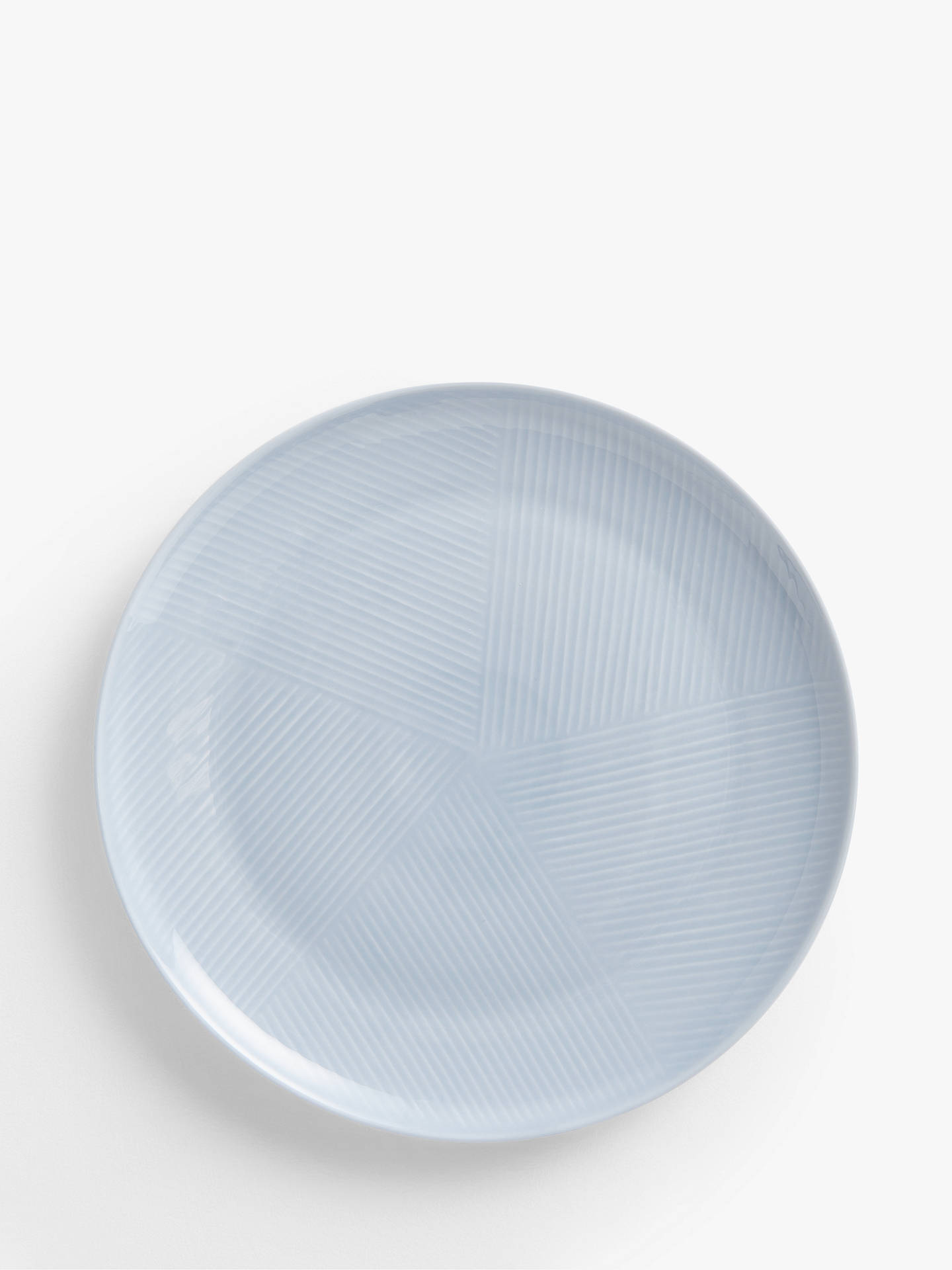 Buy Design Project by John Lewis No.098 Coupe Dinner Plate, 28cm, Blue Online at johnlewis.com