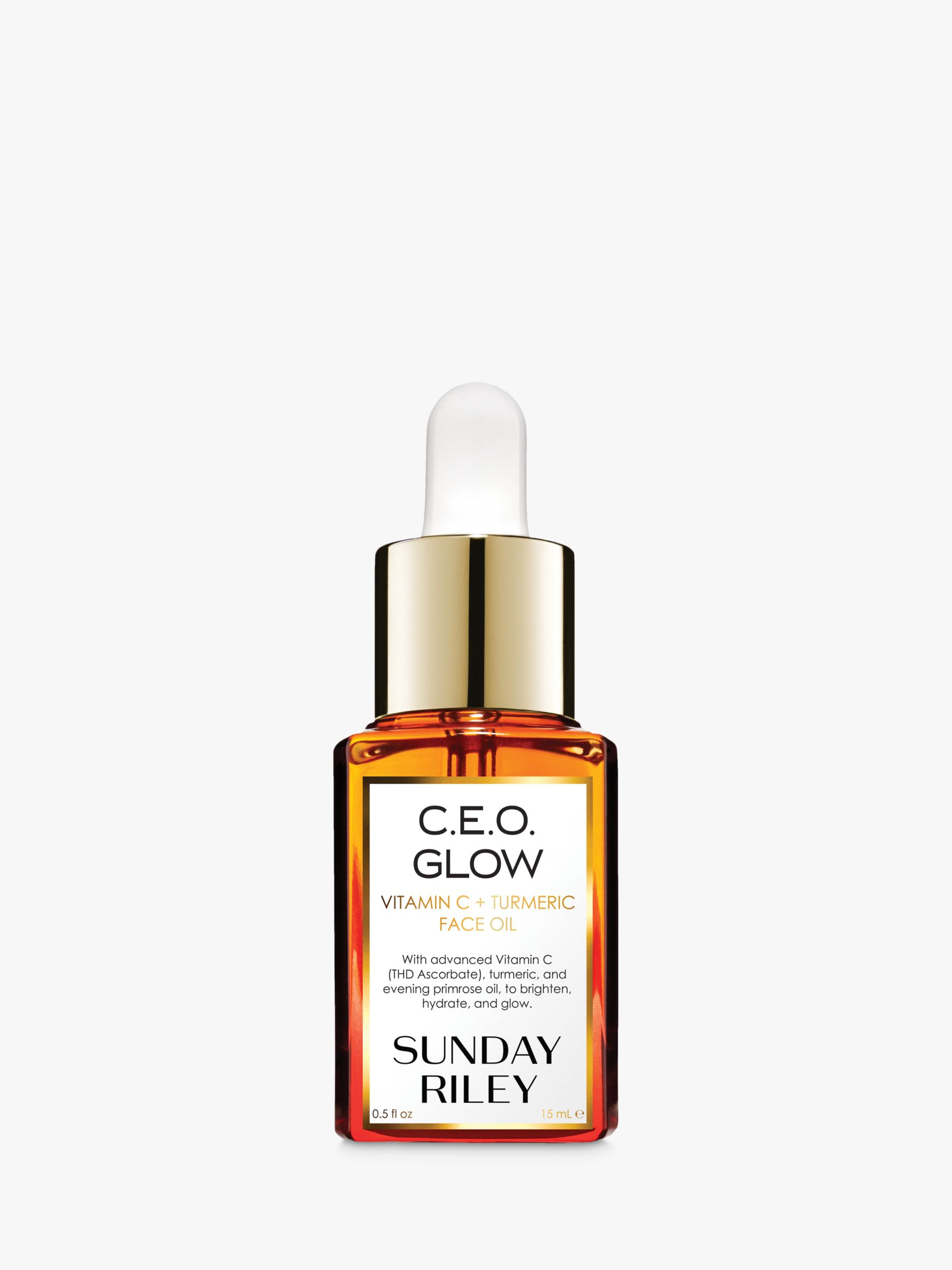 Buy Sunday Riley C.E.O. Glow Vitamin C and Turmeric Face Oil, 15ml Online at johnlewis.com