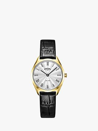 Rotary Women's Ultra Slim Leather Strap Watch
