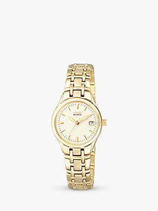 Citizen EW1262-55P Women's Eco-Drive Date Bracelet Strap Watch, Gold