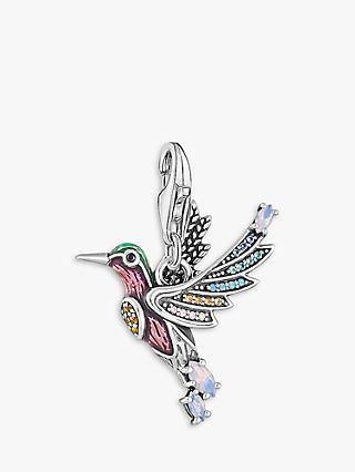 THOMAS SABO Charm Club Hummingbird Charm, Silver/Multi