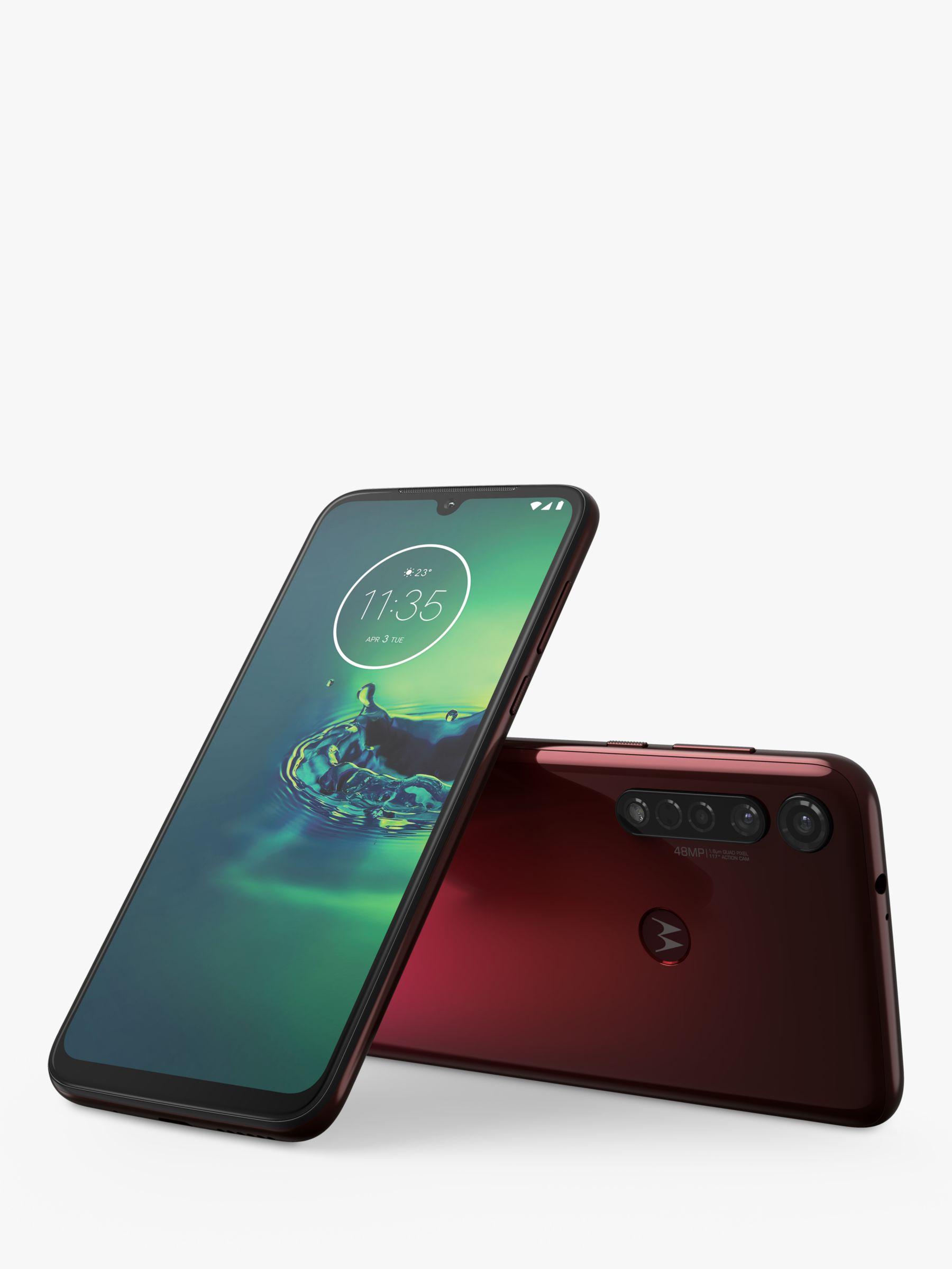 Motorola Motorola g8 Plus Smartphone, Android, 6.2, 4G LTE, SIM Free, 64GB, Crystal Pink
