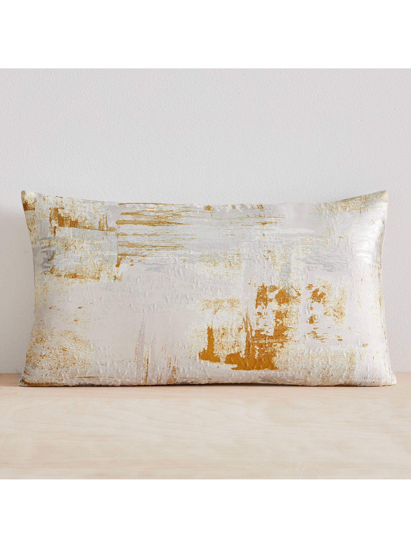 Buy west elm Artsy Brocade Cushion, Dark Horeseradish Online at johnlewis.com