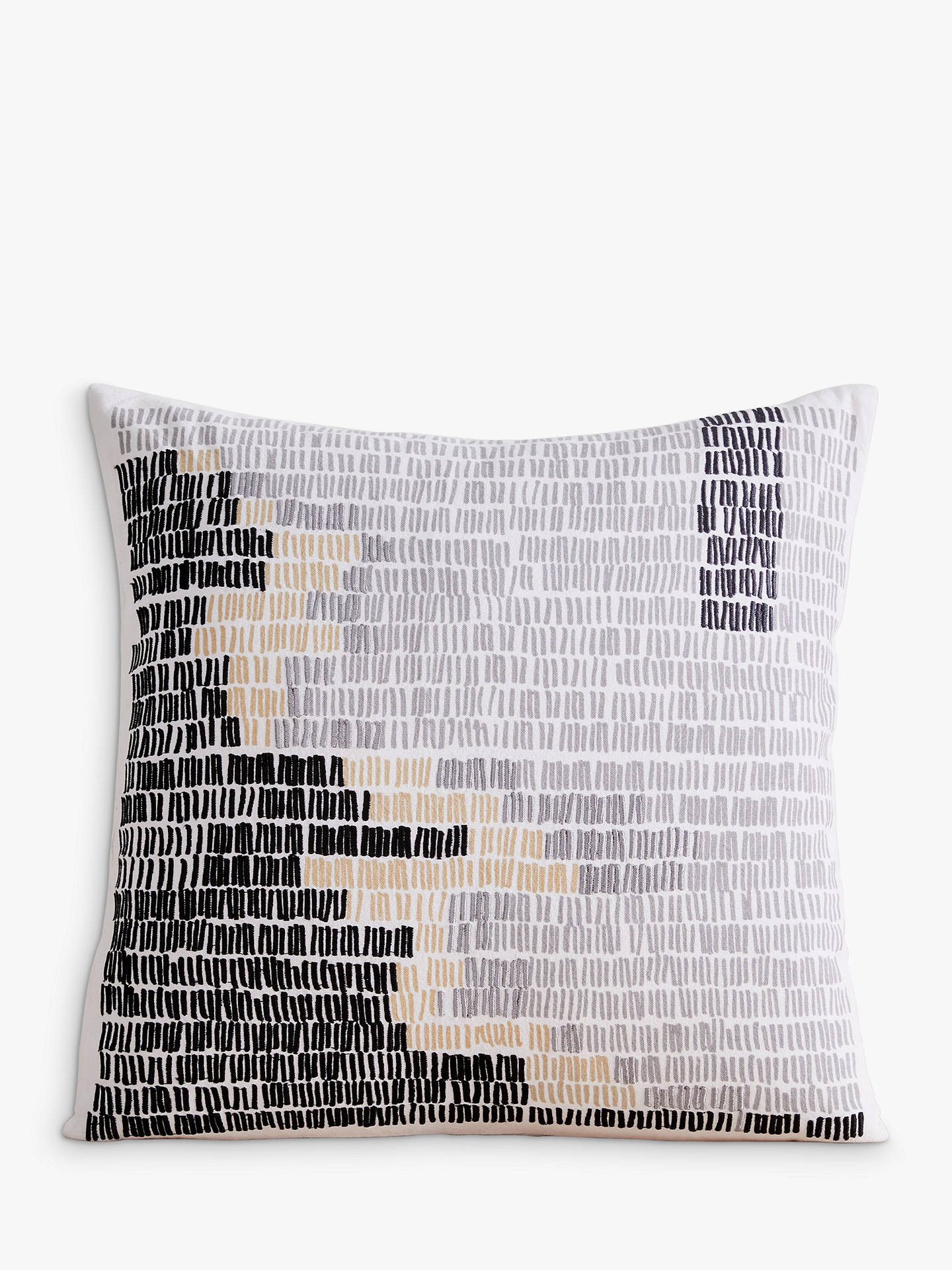 Buy west elm Binary Lines Cushion, Multi Online at johnlewis.com