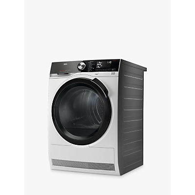 AEG 9000 Series T9DEB969C Heat Pump Tumble Dryer, 9kg Load, A+++ Energy Rating, White