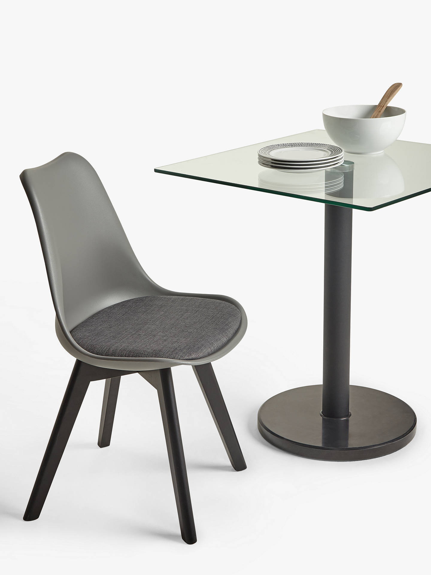 House By John Lewis Enzo 2 Seater Glass Square Dining Table Black Marble At John Lewis Partners