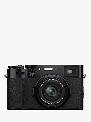 "Fujifilm X100V Digital Compact Camera with 23mm Lens, 4K Ultra HD, 26.1MP, Wi-Fi, Bluetooth, Hybrid EVF/OVF, 3"" Tiltable Touch Screen"