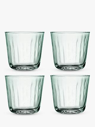 LSA International Mia Recycled Glass Tumblers, Set of 4, 250ml, Green