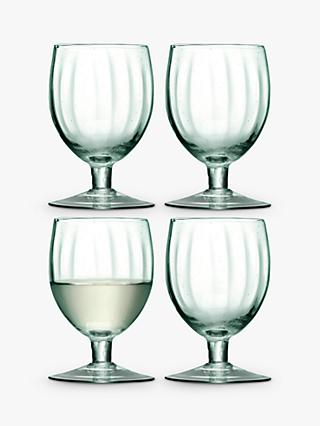 LSA International Mia Recycled Wine Glasses, Set of 4, 350ml, Green
