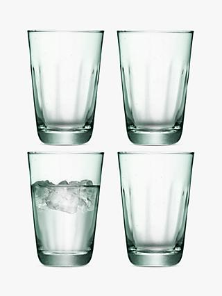 LSA International Mia Recycled Highball Glasses, Set of 4, 350ml, Green