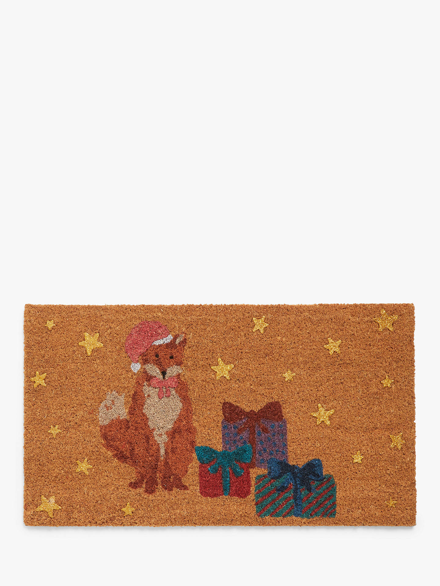Buy John Lewis & Partners Fox Christmas Door Mat Online at johnlewis.com