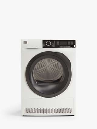 John Lewis & Partners JLTDH25 Heat Pump Freestanding Tumble Dryer, 9kg Load, A++ Energy Rating, White